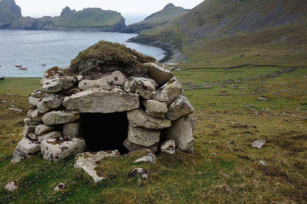 One of the many cleits used for drying and storing food and peat. There are around 1260 of these structures on Hirta and are unique to St Kilda.