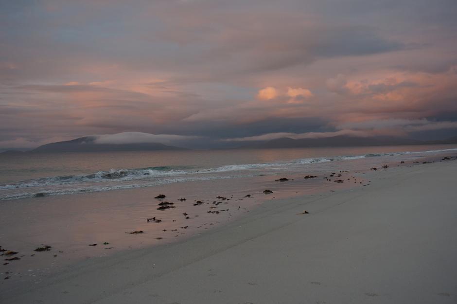 Autumn dusk on west side of Berneray.