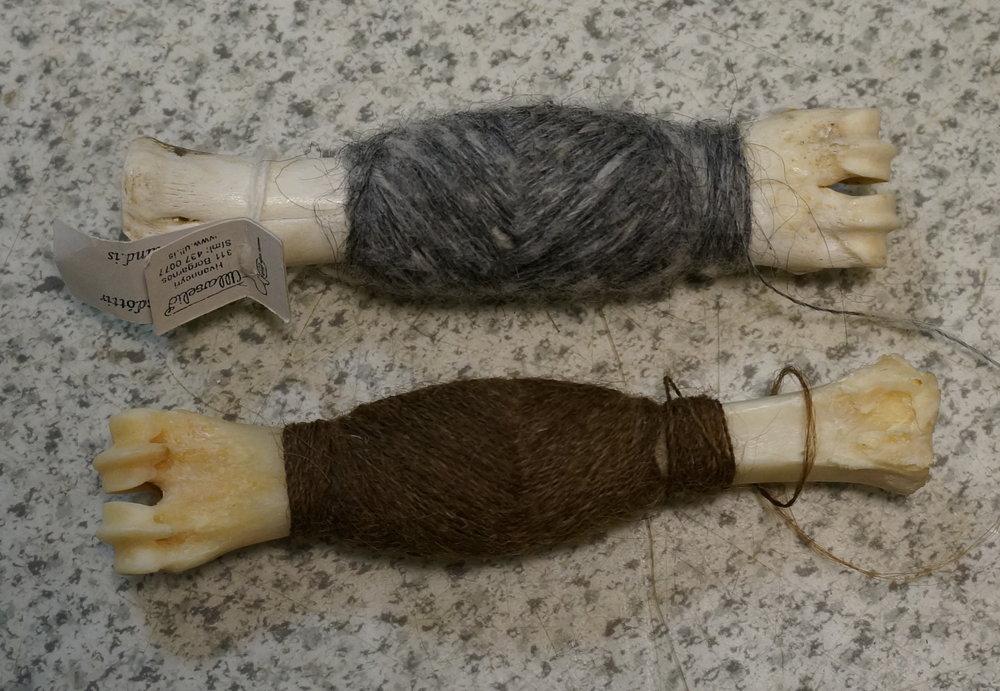 'Pradaleggur' wrapped with tapestry threads.