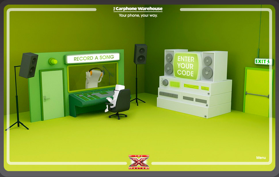 Carpone Warehouse - X Factor digital campaign.