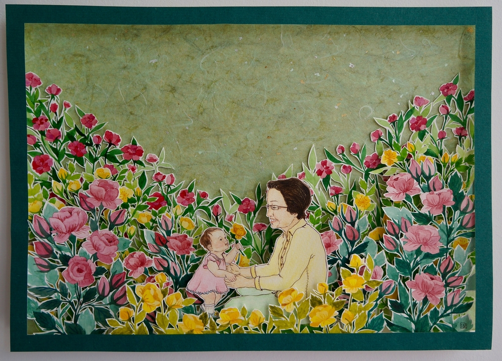 With Grandma in Flower Garden II