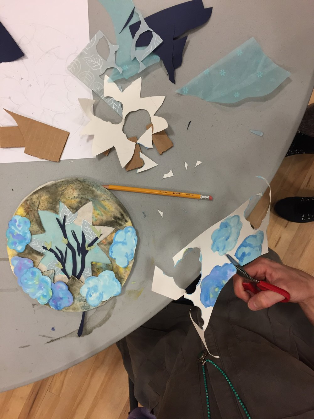 Collage Workshop (adult) ,  McBride, Norther BC, TD Book Week 2018