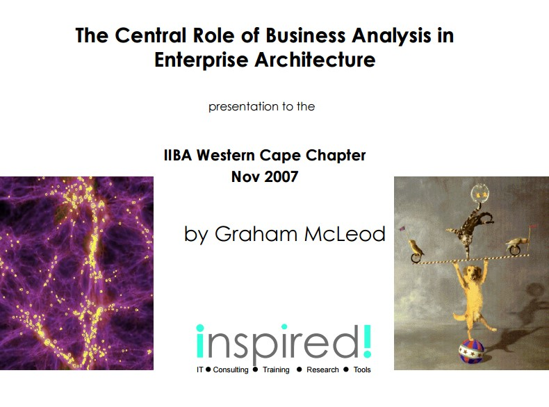 3,7MB - Central Role of Business Analysis in Enterprise Architecture