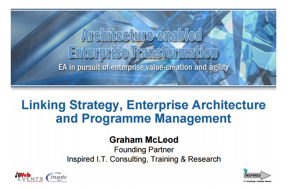 457KB - Linking Strategy, Enterprise Architecture and Programme Management