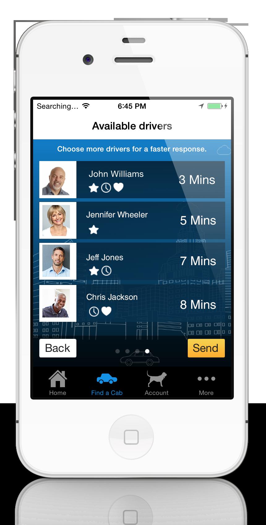 download the cab hound passenger app