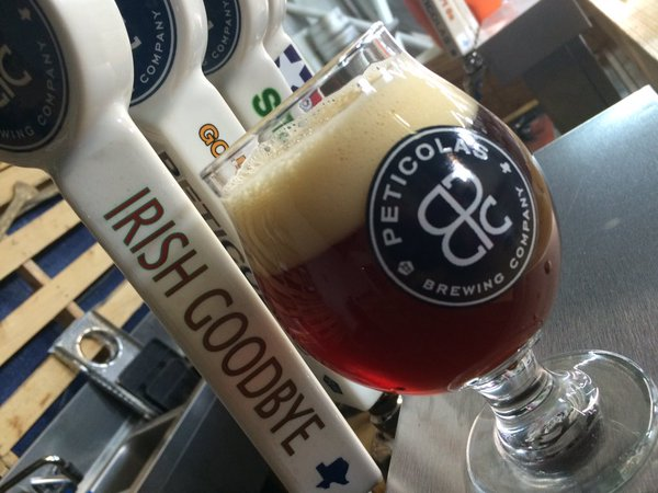 """Irish goodbye is an Irish Red Ale boasting a 6.5% ABV. """"It is a beautiful copper red in color with low fruity-ester aroma accompanied by a rocky dense off white head. Candy like malt sweetness is enhanced by a subtle degree of roasted malt that brings a level of complexity to nice even keeled hop flavor and bitterness."""""""