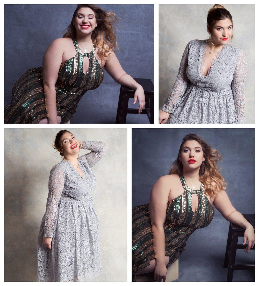 Curvy girl portrait session