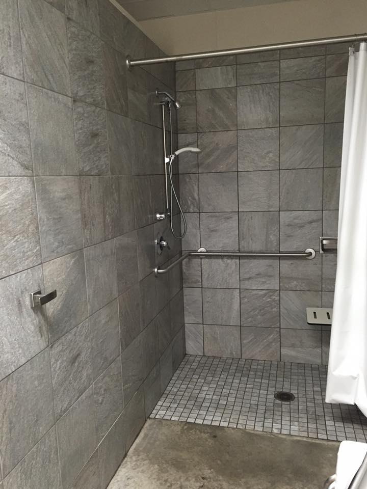Clean, modern bathroom & shower facilities