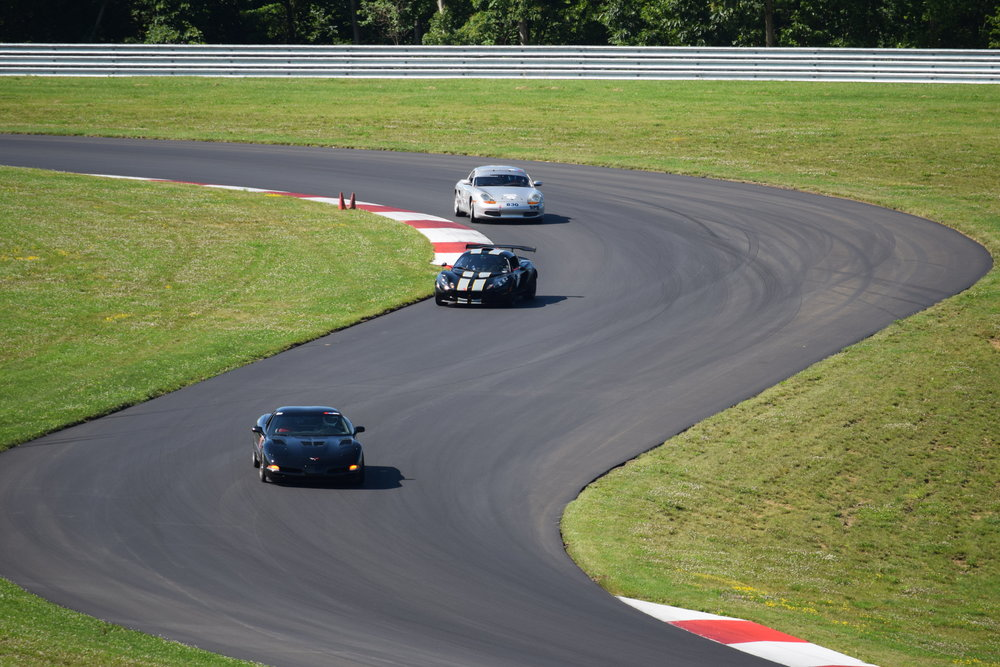 Newly repaved 2.8-mile, 19-turn road course