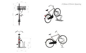 bike rack dwg