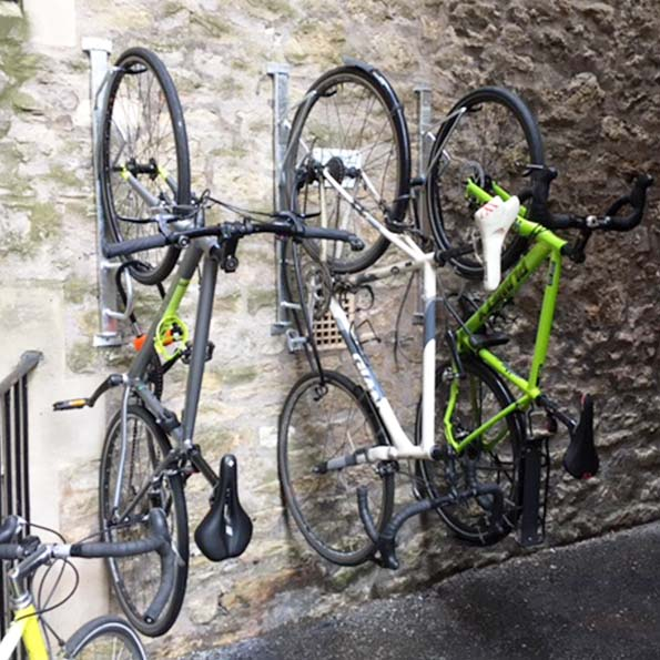 Secure Vertical Bike Rack