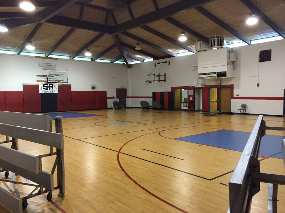 Before Upgrade: The Boys & Girls Club of Greater Dubuque gymnasium.