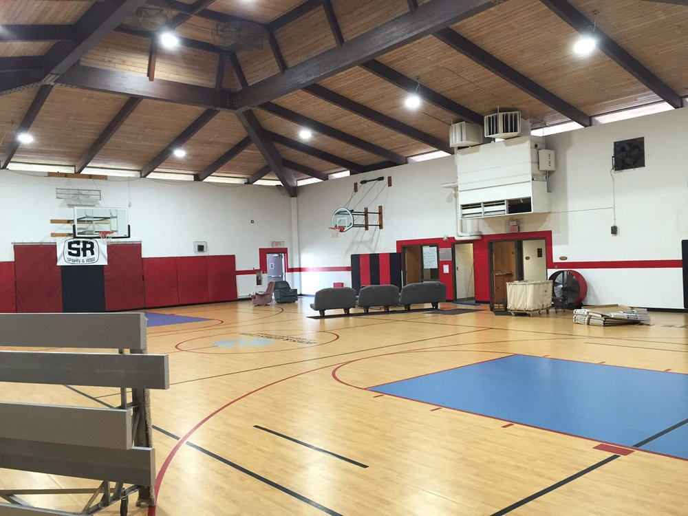 After Upgrade: The Boys & Girls Club of Greater Dubuque gymnasium.