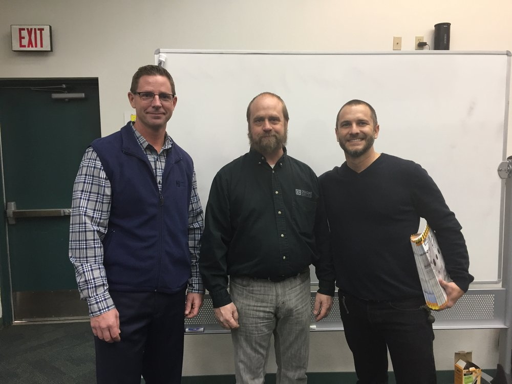 Pictured left to right: Jeff McKenzie (Crescent Electric), Steve Harmon (Crescent Electric), and Dan Steindam (IDEAL Industries).