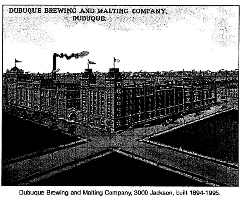 An interesting side note, something of a forbearance of the future, is this newly built brewery was the first large business in Dubuque to use large electric trucks for delivery of its product. In the early 1900's the plant was completely converted to electricity away from the more common use of gas at the time.