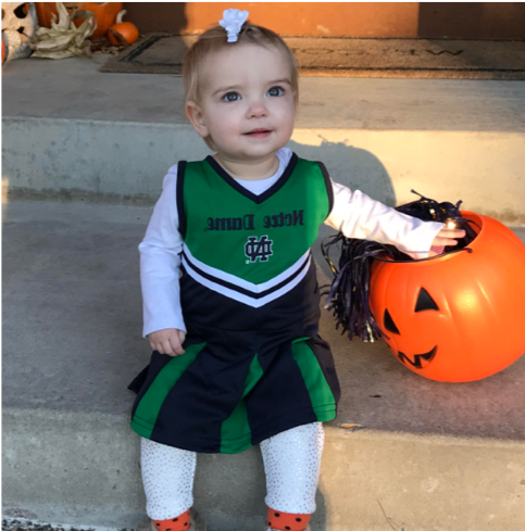 And, this tradition of cheering on the team to victory continues. 5thgeneration Schmid member, Addi Sexe, was cheering on her favorite team for her Halloween costume this year!