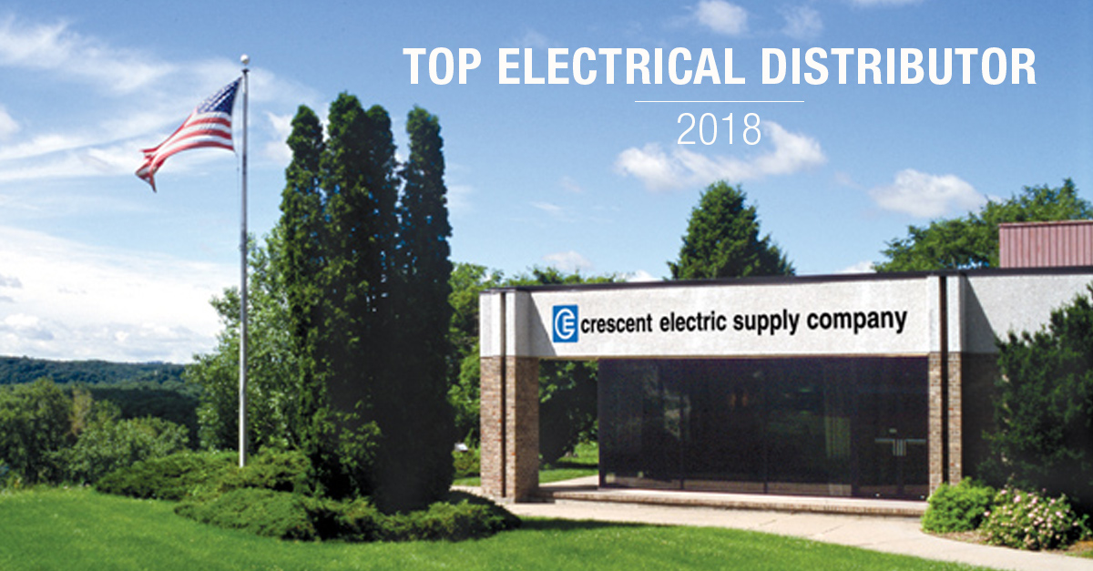 Crescent Electric Finishes 2018 as a Top 10 Electrical Distributor