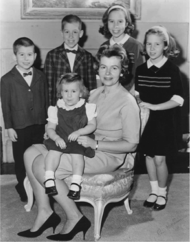 Bette Schmid with John and Bette's five children. (Circa 1966)