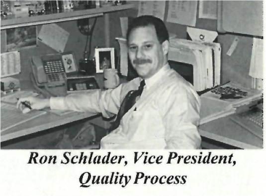 Ron Schlader in the April 1994 edition of  The Business & Industry Magazine .