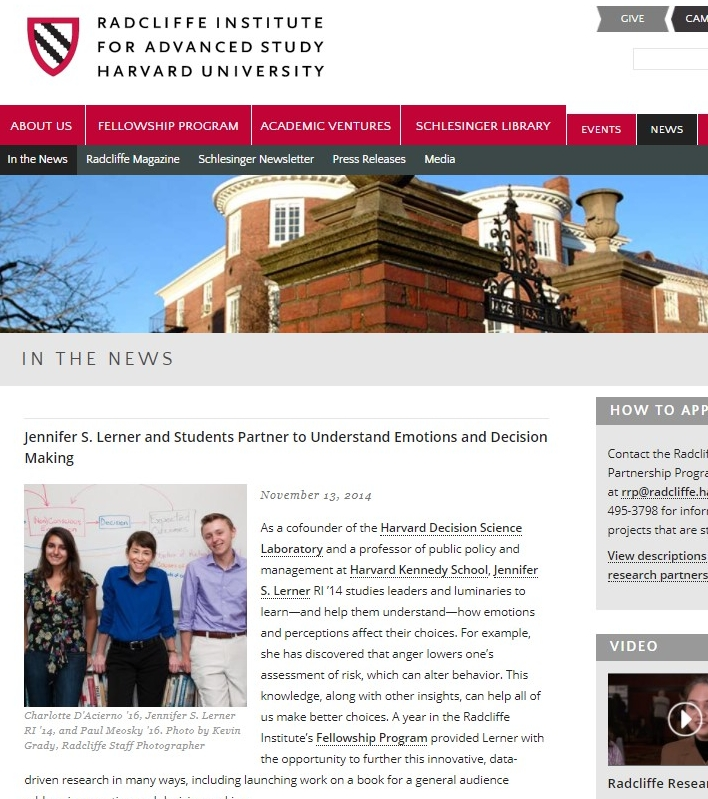 Harvard's Radcliffe Institute for Advanced Study