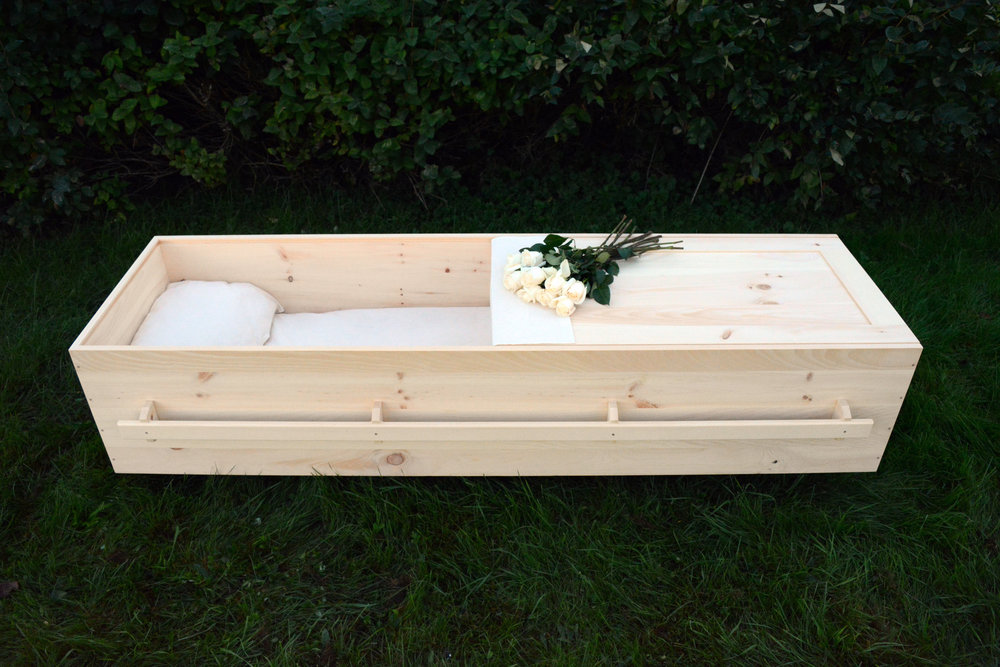 Jeremy Burrill's caskets include no nails or brass. (Submitted)