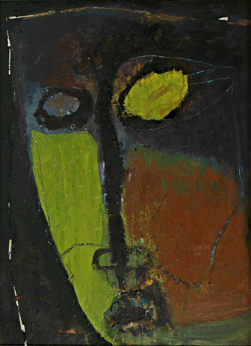 """""""Portrait #1"""", 24"""" x 36"""", oil on canvas."""