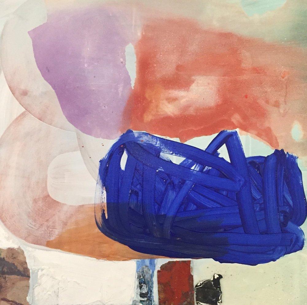 """Balance:"", 3 x 3 ft, mixed media on canvas."