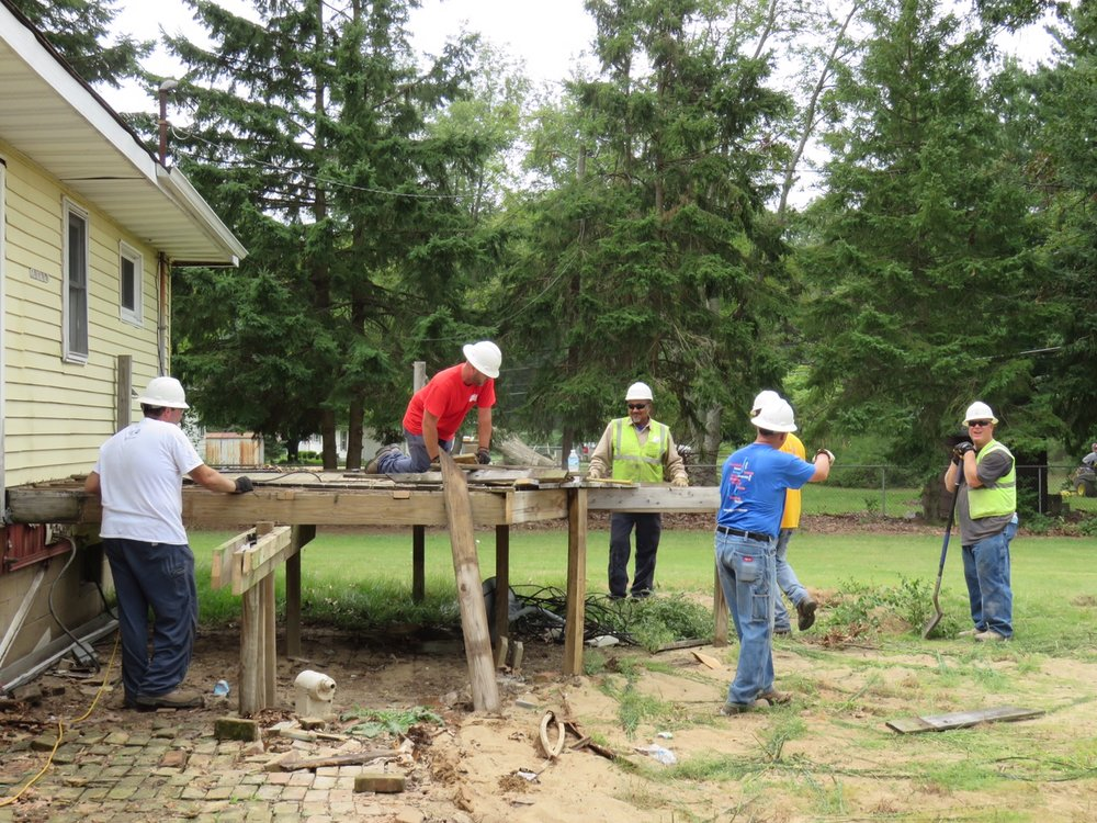 (demolition of former deck) Steve Cox, Mike McCarty, Ramon Caldwell, David Brooks, James Cowan