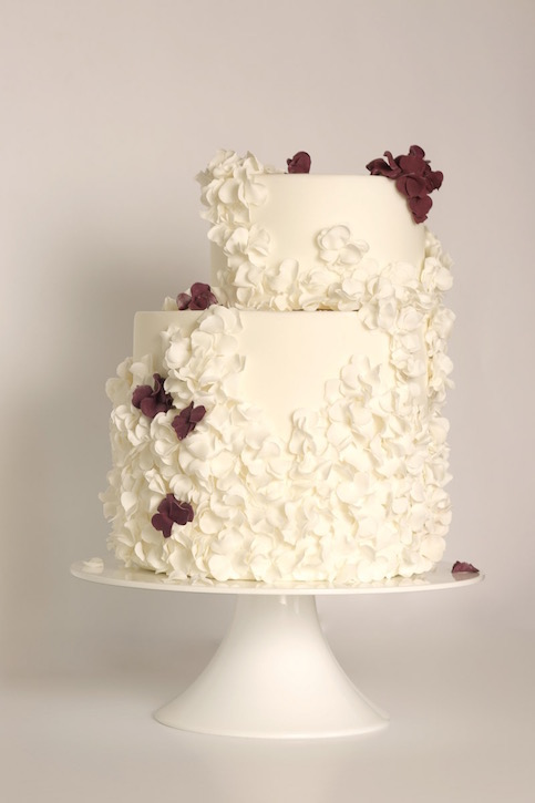 Fallen Blossoms wedding cake