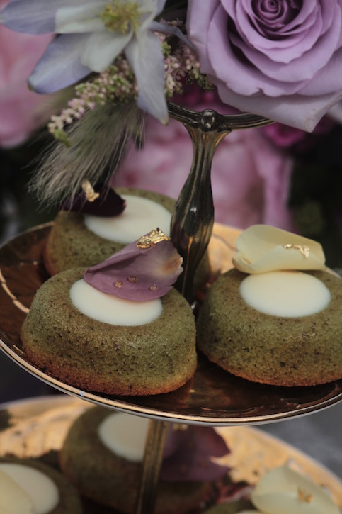 Pistachio and rose financiers