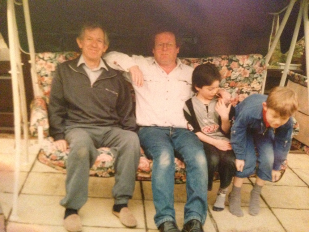 Grandad, Dad, my brother and cousin