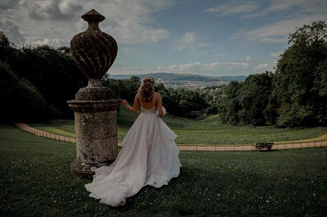 It's all about the dress...and the view!  #hayleypaige #hayleypaigebride #reagangown  #nationaltrustpriorpark #priorpark