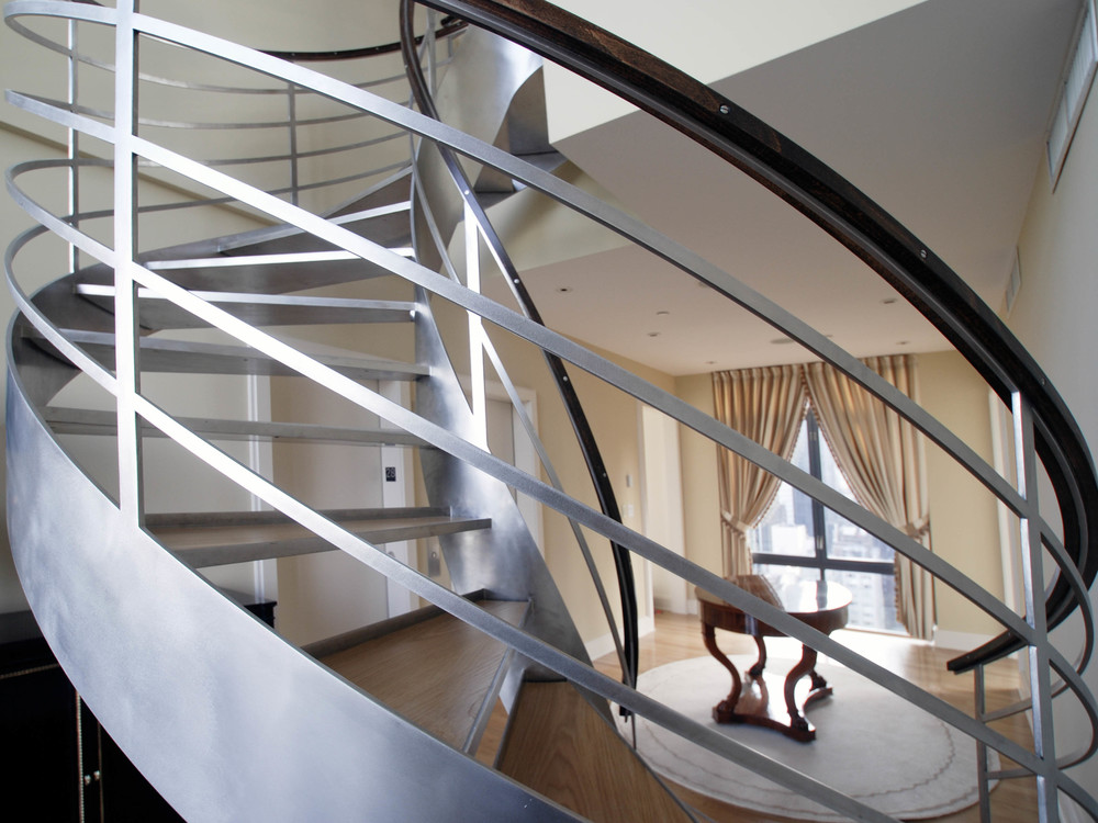 Stainless Steel Helix Staircase