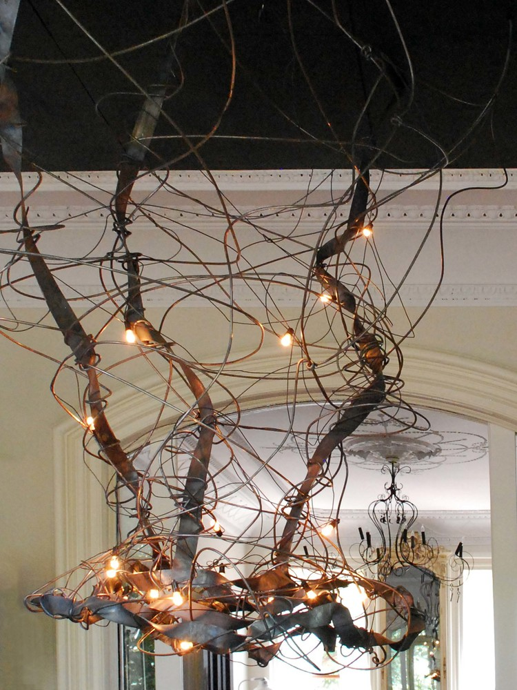 Metal chandelier custom metal fabrication in brooklyn nyc client morisette location brooklyn ny design chandelier aloadofball Image collections