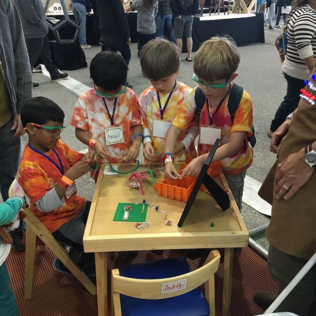It's Maker Faire weekend! Flashback to when we were last there. No booth for us this weekend, but there are lots of hands-on projects you can do with students right in your classroom. Check out our website for more info.  #makerfaire #bamf #makers #makerfaire2018 #makeredu #mfba18 #bayareamakerfaire18 #makersgonnamake #circuits #electronics #STEM #engineering #robotics