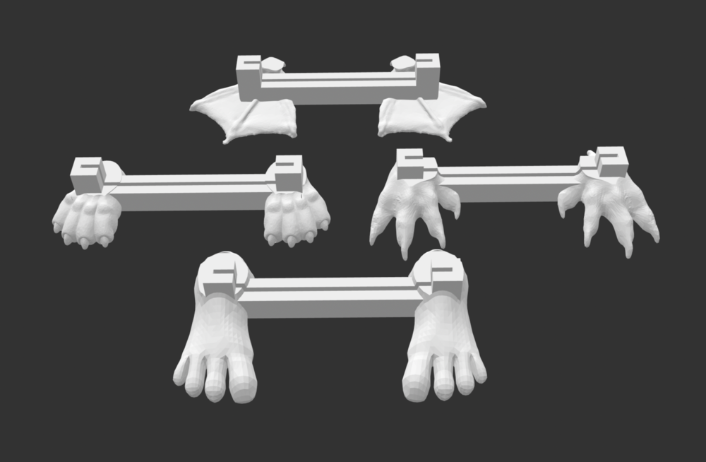 This is an example of  feet  that can stand up the bit:booster.  The tinkercad file link is here  https://www.tinkercad.com/things/6BcFgQnYXHK