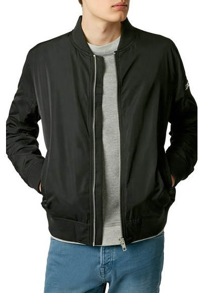 Topman Black Bomber Jacket