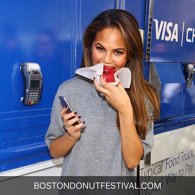 No one appreciates a good donut like @chrissyteigen - get your tickets for Sunday!! 🍩 bostondonutfestival.com