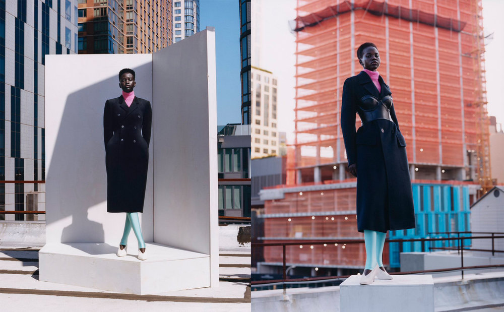 Adut Akech for British Vogue January 2019, shot by Tyler Mitchell