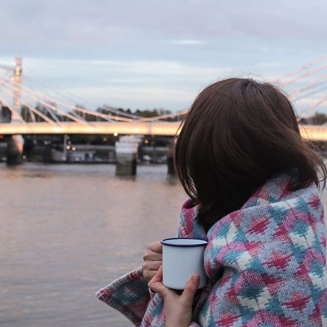 Need a blanket for chilly summer evenings? Mine are woven from 100% wool in Wales. They are super cosy and colourful! #springevening #albertbridge #interiorthrow #blanket #choosewool #madeinwales