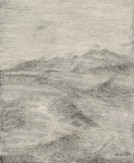 "Sea State 1,  2009 pencil, charcoal on paper 82"" x 68"""