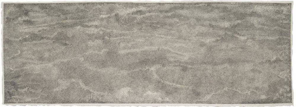"Breath/Sea Drawing, 2017 pencil on paper 26"" x 72"""