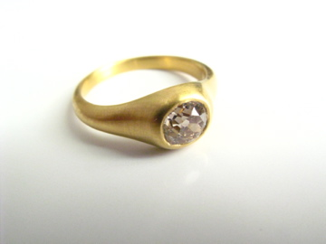 Engagement ring for CS  gold, Cushion cut (champagne) diamond 2013