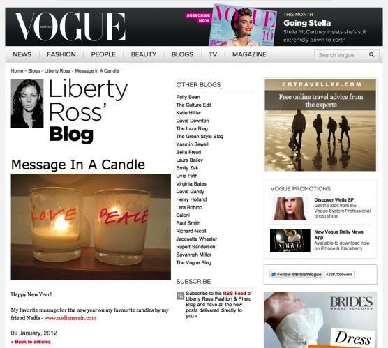 Vogue: Jan 2012