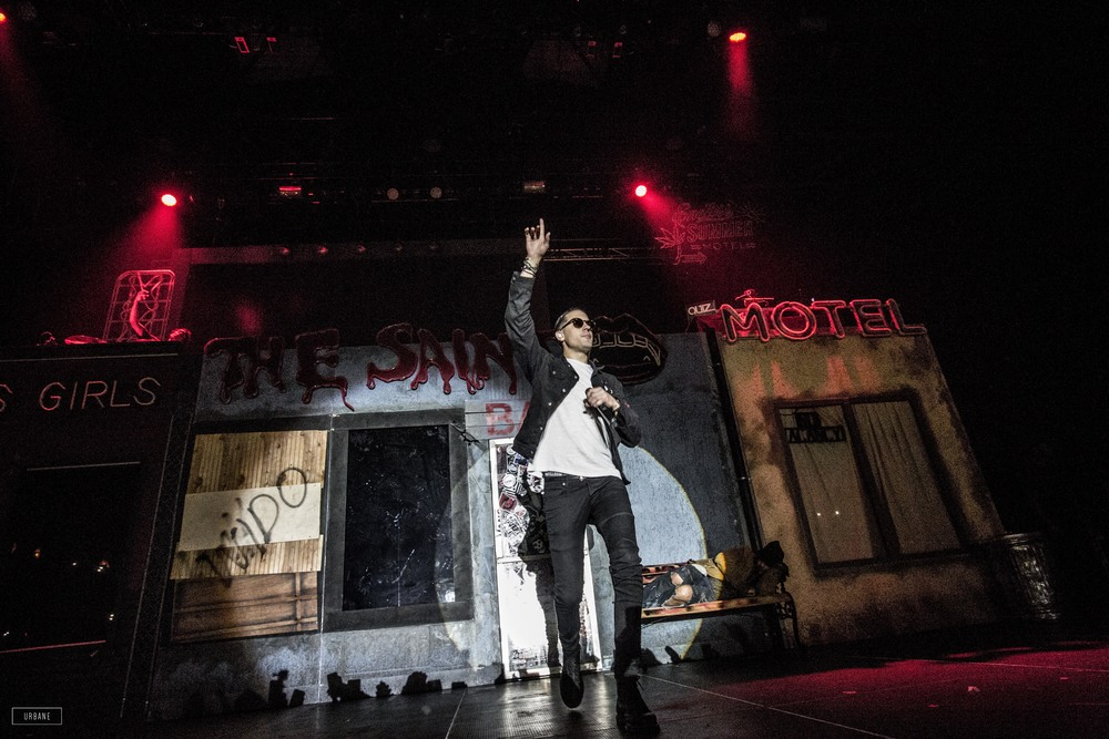 G-Eazy performing live at the BombFactory, shot by Meme Urbane.