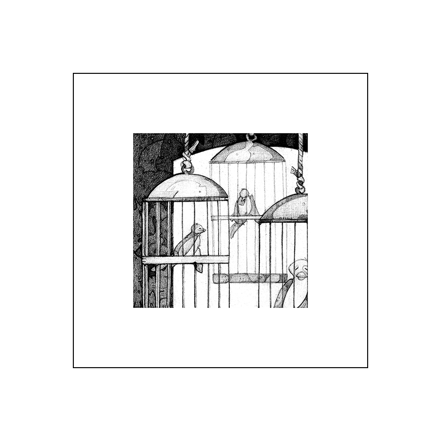Chop Series Pets1, Digital Archival Print, copyrighted by Kathleen Zimmerman