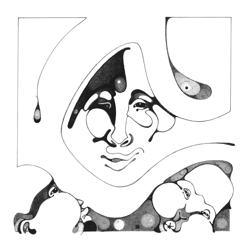 Hood Series MotherHood, Intaglio Print, copyrighted by Kathleen Zimmerman