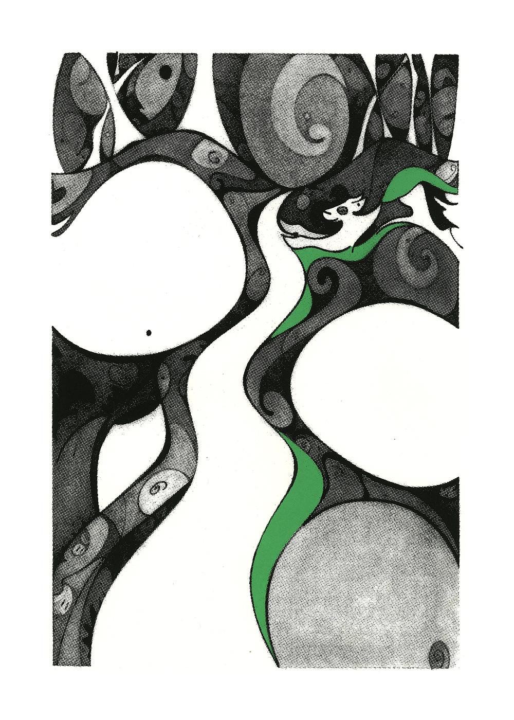 Spirit Guide, serigraph, printed at Modern Multiples,artwork &copyright by Kathleen Zimmerman