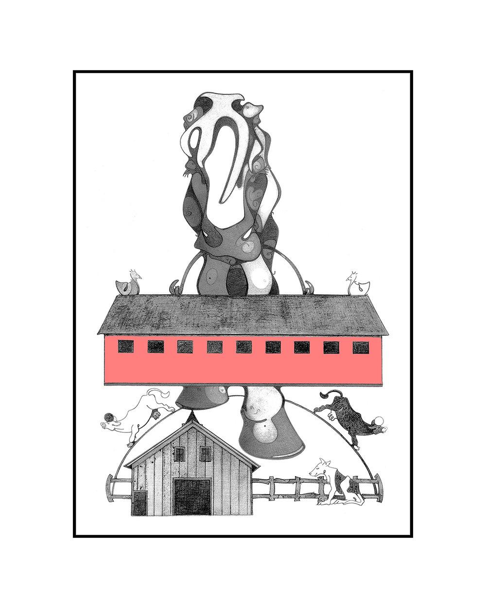 Horse Barn Hill, digital archival, printed at Zimmerman Fine Art Studio,artwork & copyright by Kathleen Zimmerman