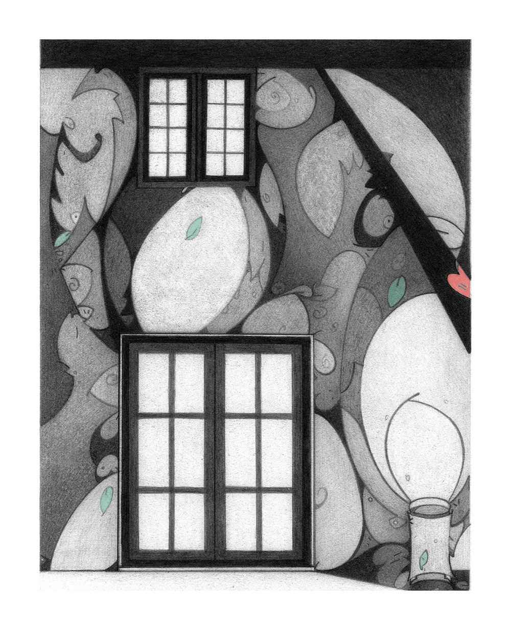 Inner Landscape, serigraph, printed at Modern Multiples,artwork & copyright by Kathleen Zimmerman